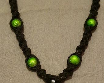 Handmade BioHazard Hatchet Man Hemp Necklace