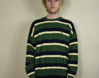 Vintage Izod Lacoste Striped Sweater
