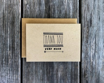 Thank You Very Much, Rustic Wedding Thank You, Bulk Thank You Cards