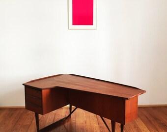 Writing Desk Lovig Løvig Danish Design Teak Vintage