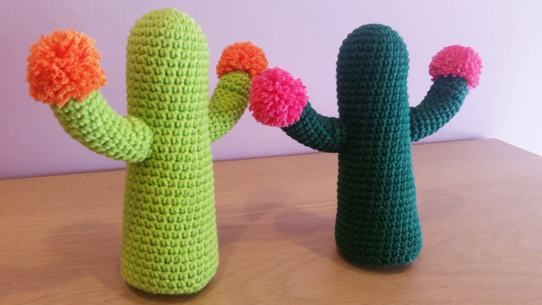 Crochet Cactus Amigurumi Handmade Crochet Amigurumi Toy Doll