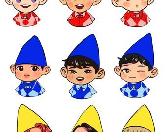 EXO gnome stickers