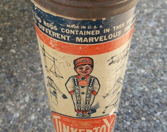 1929 Vintage Tinker Toys in original container