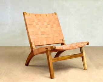 Mid Century Modern Chair, Lounge Chair, Sustainable Wood Furniture, Teak  Chair, Handwoven