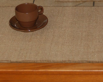 Simple, Rustic, Cottage Chic Burlap Place Mats in Natural/Tan,White or Ivory,For Wedding,Events,Parties