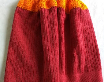 Hokie Crochet Kitchen Towels, Set of 2