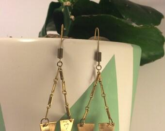 Brass 'Warhol' earrings