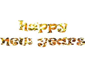 Happy New Year, New Years Clipart, Glittery New Years, New Years PNG, Gold New Years, New Year PNG, New Years Eve Print, Holiday Clipart