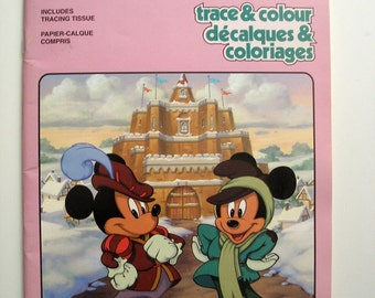 Walt Disney Prince and the Pauper Trace and Colour Book 1991