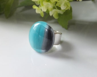 Fused glass ring mode