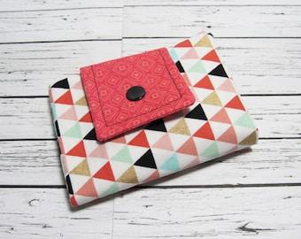 Fabric Womens Billfold Wallet, Fabric BiFold Billfold Wallet, Womens Wallet, Womens Billfold, Credit Card Money Holder, Gift Under 30