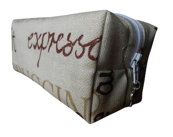 Coffee Cosmetic Bag, Boxy Pencil Case, Make-Up Bag, Coin Purse, Pouch