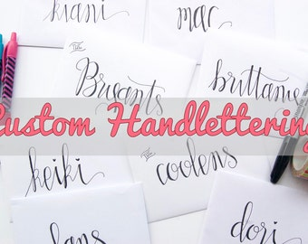 Custom Handlettering Envelope // Gift Envelope Add-On, Calligraphy