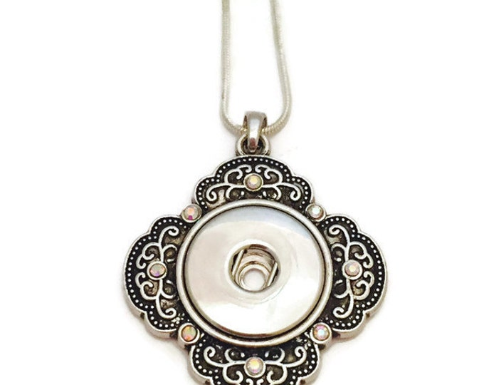 Snap Jewerly, Snap Necklace, Snap Pendant Necklace, Snap Button Jewelry, Interchangeable Snap Jewelry, Choose Your Chain Length
