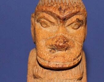 Antique Hand Carving Wood Monkey Ape Figurine