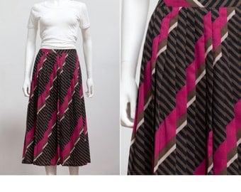 Vintage Alexon Skirt Pleated Midi Skirt • 80's Midi Skirt • Skirt Indie