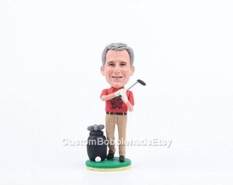 Custom Golf Bobbleheads - Grandfather gift, gifts for Grandfather, Grandpa Gift, Fathers day Grandfather Gift, custom Grandfather gifts