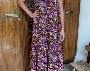 Robe fleurie vintage 70s Taille 36