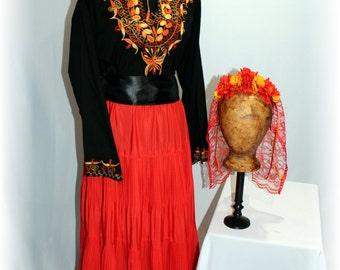 Day of the Dead Costume / Día de los Muertos / Mexican-Latino Style Costume-Medium