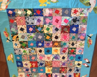 Quilted baby or toddler blanket