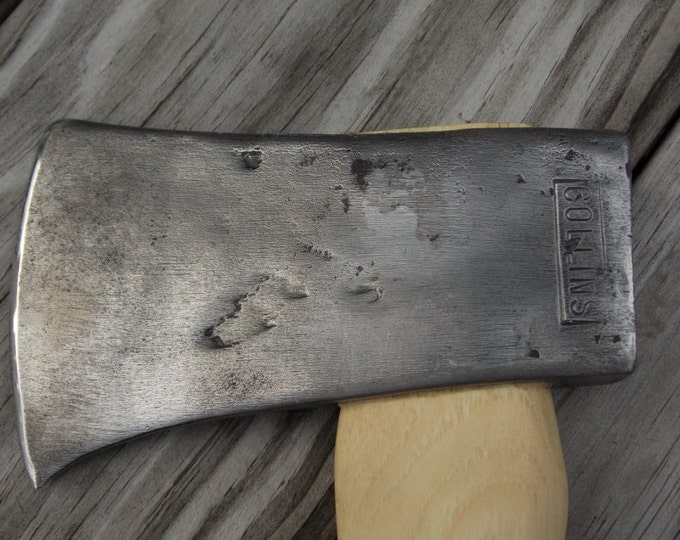Collins hatchet with new 14 inch handle of American Hickory weighs 1 lb 9 oz