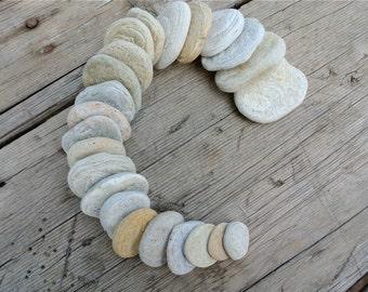 Flat Beach Stones, Flat Beach Pebbles, Stones For Crafts, Greek Pebbles, Gray Pebbles, White Pebbles