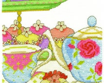 DMC BK1654 Cupcake O'clock Cross Stitch Kit designed by Jane Prutton - From the afternoon tea collection.