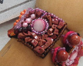 Beading with gemstones bracelet