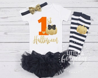 1st Halloween Outfit, First Halloween Onesie, First Halloween Outfit, 1st Halloween Onesie, Girls Fall outfit, Thanksgiving Outfit