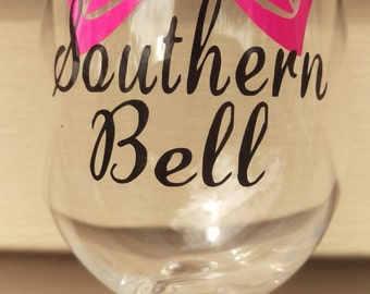 Southern Bell Wine Glass