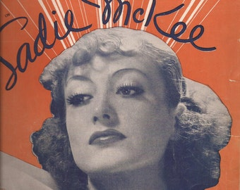 Joan Crawford, All I Do is Dream of You, Sadie McKee, Vintage Sheet Music, Vintage Movie, Hollywood Movie Star, Home Decor, Song, Lyrics