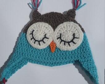 Owl Crochet Hat