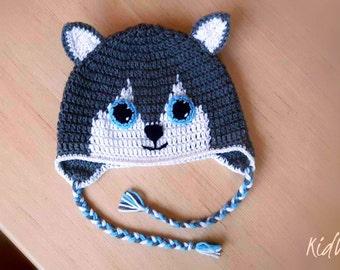 Crochet wolf hat - Baby wolf hat - Newborn wolf hat - Gray wolf hat - Baby animal hat - Toddler wolf hat - Wolf beanie - Kids beanie