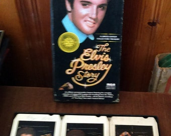 Vintage 1977 The Elvis Presley Story RCA DMS3-0263 Boxed Set of 3 Eight Tracks