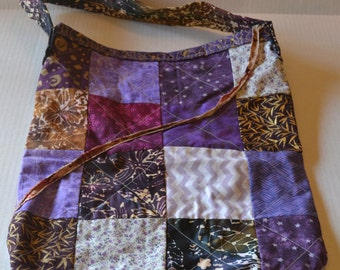 Purple Patchwork Tote