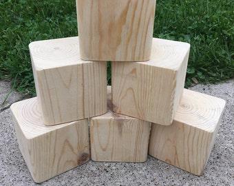 Six blank dice - blocks -yard dice - farkle - yardzee