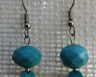 Earrings Turquoise Color with Turquoise Heart
