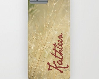 Beige Cream Device case for iPhone / iPhone 7 / 7s, iPhone 6 /6s, Samsung, Galaxy, Phone, Grass, Field, Floral, Nature, Beige, Protective