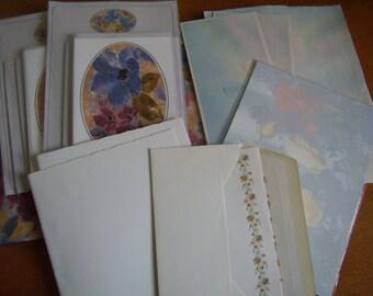 Former letter paper, blank sheets, scrapbook, decor flowers, balloons, paper vellum,