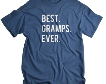 Grandpa Shirt - Gifts for Grandparents - Best Gramps Ever T Shirt for Grandfather - Grandaddy Grandad Gift