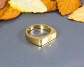 Initial Ring, Letter Ring, Custom Letter Ring, Gold Letter Ring, Rose Gold Custom Ring, Personalized Signet Ring, Gold Engraved Ring