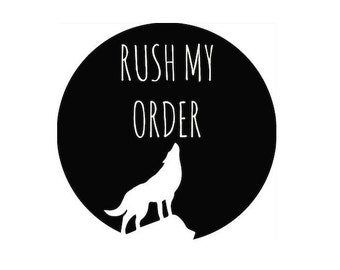 Rush My Order, Order is shipped in 1-2 days