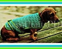 Dog Coat Crochet Pattern 70s Vintage Bulky Dog Crochet Pattern Dog Sweater Crochet Pattern VintageBeso Instant Digital Download PDF Pattern