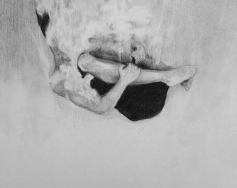 Sinking Deep illustration print