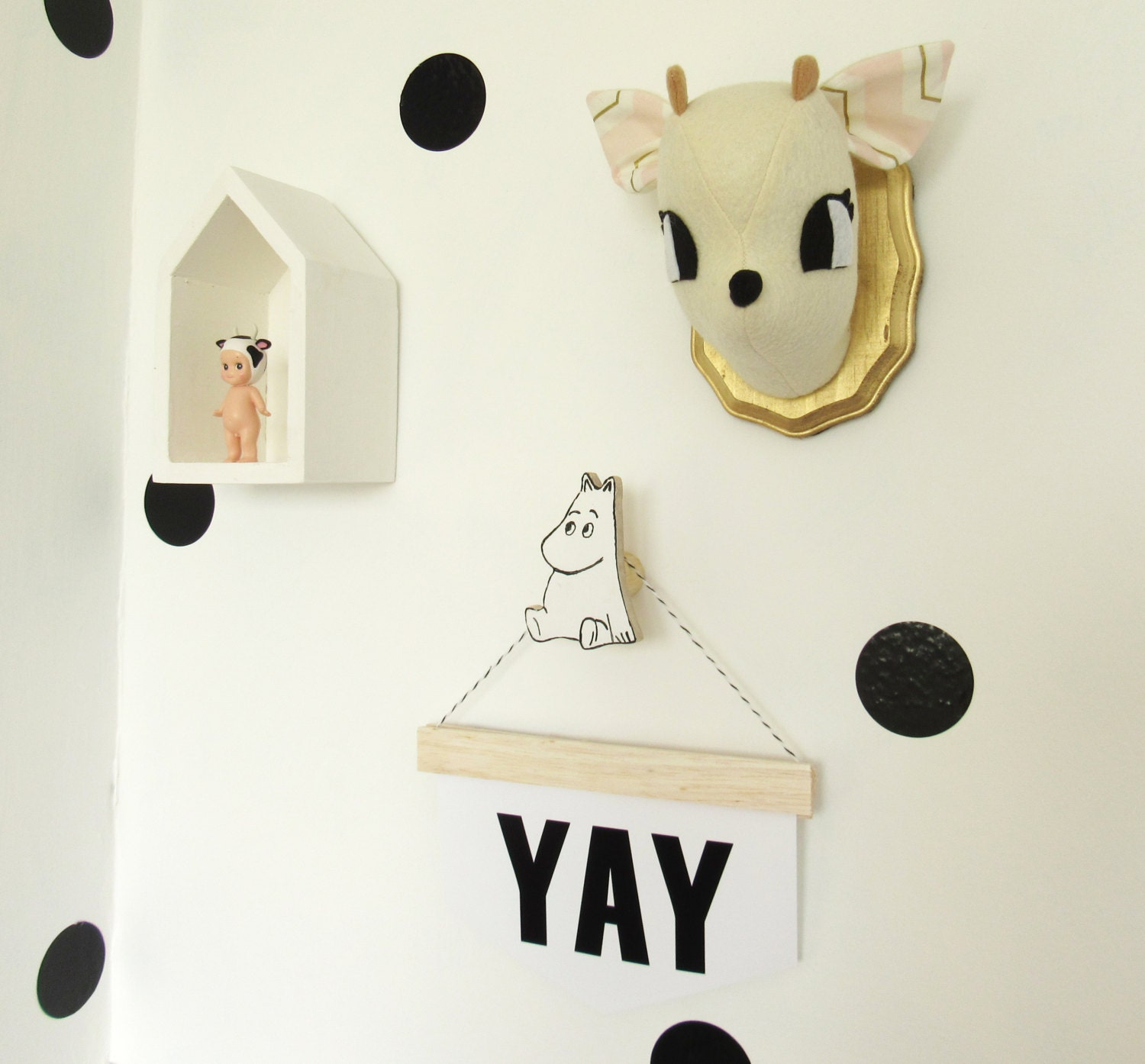 cute hippo wall hook wooden hooks modern kids by craftedpineco