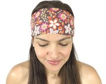 Yoga Headband Workout Headband Floral Headband Fitness Headband No Slip Wide Headband Boho Beach Headband Spring Fashion Women Turban S86
