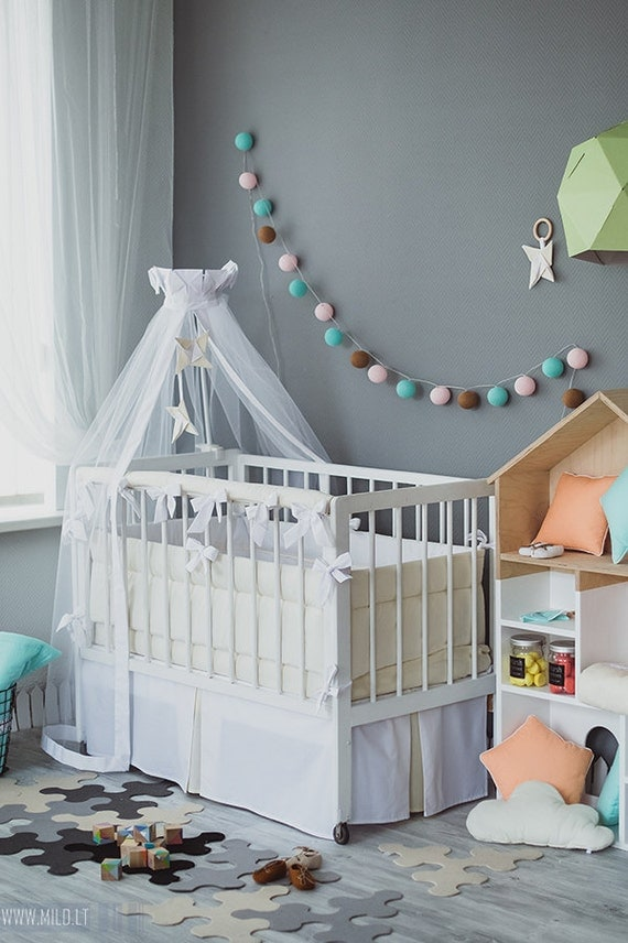 Items similar to crib canopy bed crown origami wind mill for Nursery crown canopy