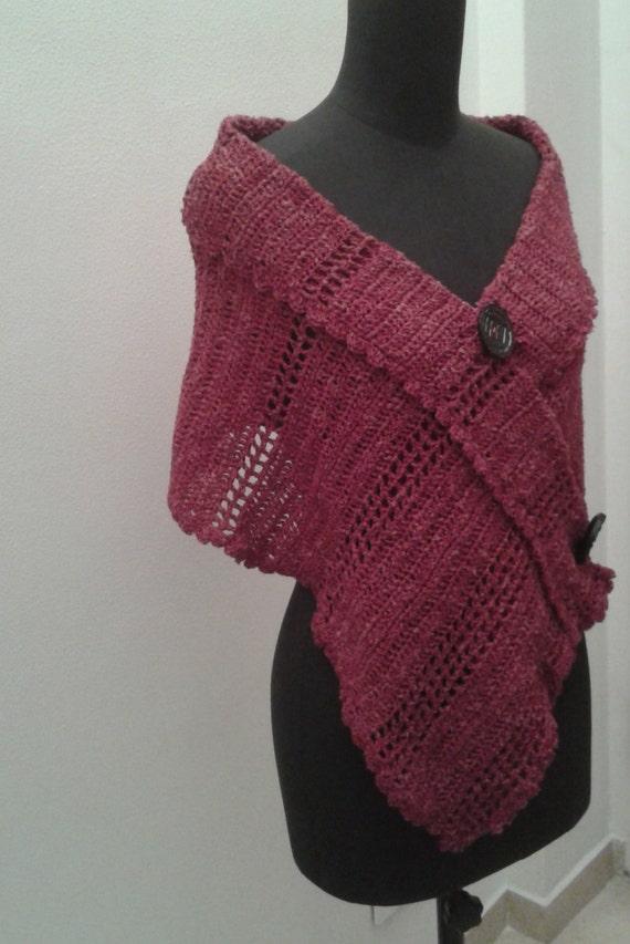 Bolero Scarf Shawl Neckwarmer Crochet Pattern : Crochet shawl pattern. Cotton linen shawlshrug wrap scarf