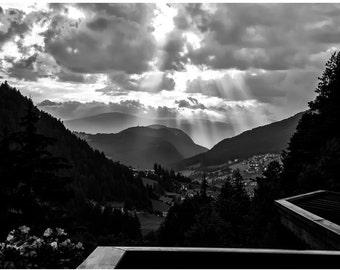 Storm over Ortisei val Gardena, Dolomites, Italy