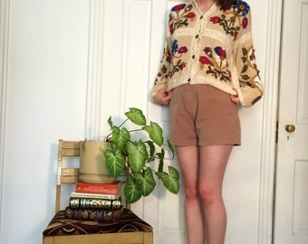 vintage amazing floral grandma cardigan/sweater